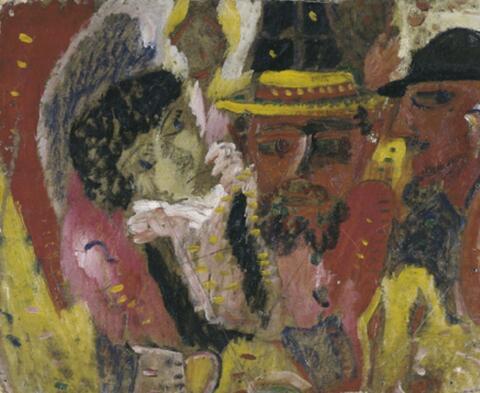 Franz Radziwill - Drei Köpfe (Frau und zwei Männer mit Hüten)