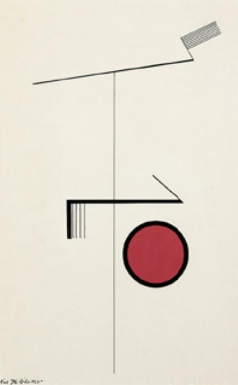 Karl Peter Röhl - Abstrakte Komposition