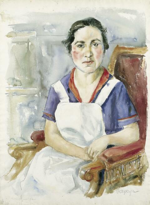 Rudolf Schlichter - Dienstmädchen