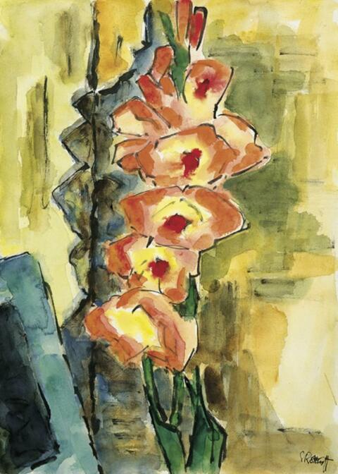 Karl Schmidt-Rottluff - Rote Gladiolen