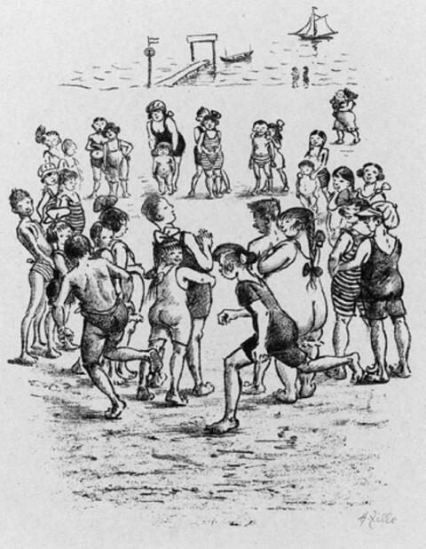 Heinrich Zille - Kinder beim Kreisspiel