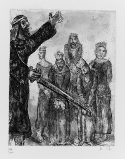 Marc Chagall - Der Mantel des Noah. Der Tod des Moses. Josua mit den besiegten Königen. Ein Engel weckt Elia. Der Herr wird dich führen