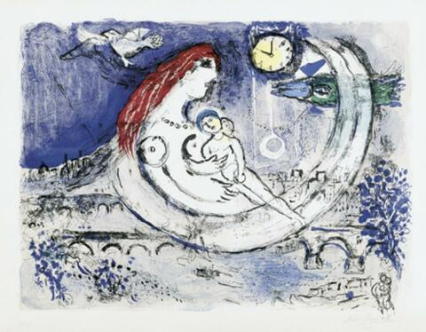 Marc Chagall - Paysage bleu