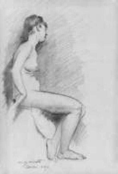 Lovis Corinth - Sitzender weiblicher Akt