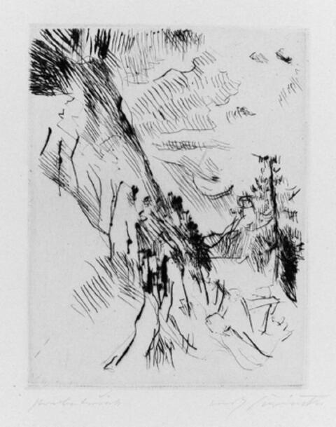 Lovis Corinth - Lärche mit Herzogstand