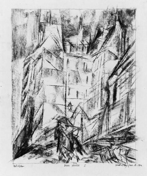 Lyonel Feininger - Hohe Häuser I