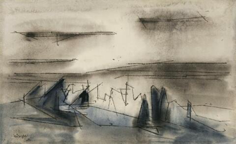 Lyonel Feininger - Seascape with Clear Cloud