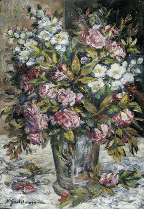 Natalja Sergejewna Gontscharowa - Blumenstilleben mit Rosen und Jasmin