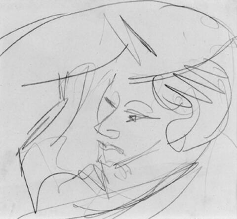 Ernst Ludwig Kirchner - Schirmaufspannende