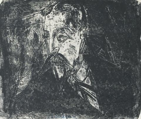 Ernst Ludwig Kirchner - Kopf Professor Graef (Querformat)