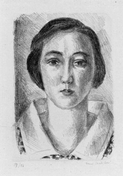 Henri Matisse - Jeune fille en robe fleurie au col d'organdi