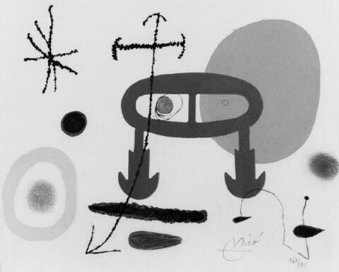 Joan Miró - Zu: Louis Aragon, Je n'ai jamais appris à écrire ou les incipit