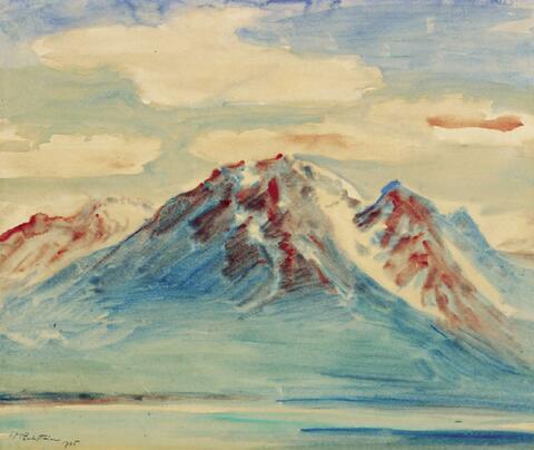 Hermann Max Pechstein - Berglandschaft (Genfer See)