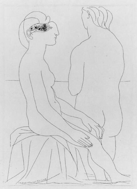 Pablo Picasso - FEMMES AU BAIN