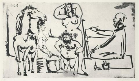 Pablo Picasso - Le Peintre sur la Plage
