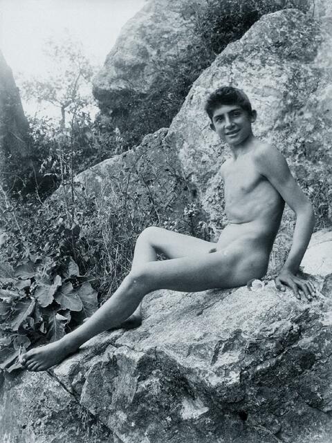 Wilhelm von Gloeden - Jugendlicher Männerakt