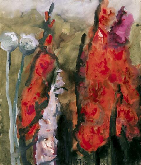 Klaus Fußmann - Rote Gladiolen