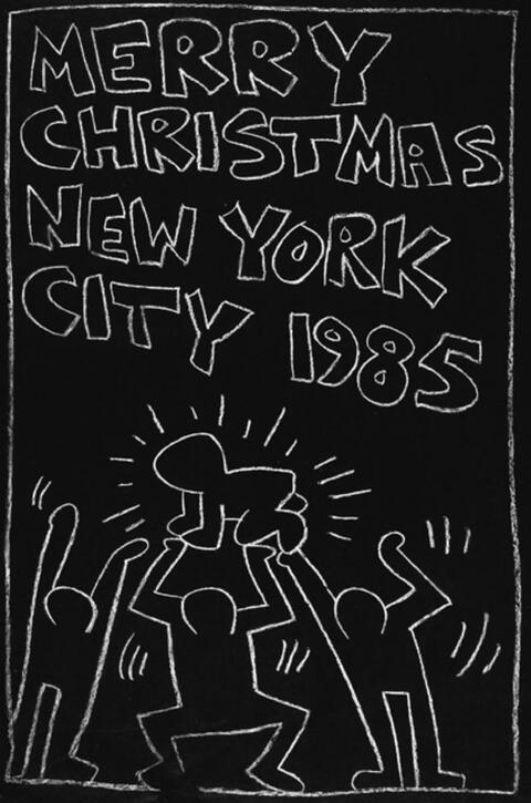 Keith Haring - Subway Drawing