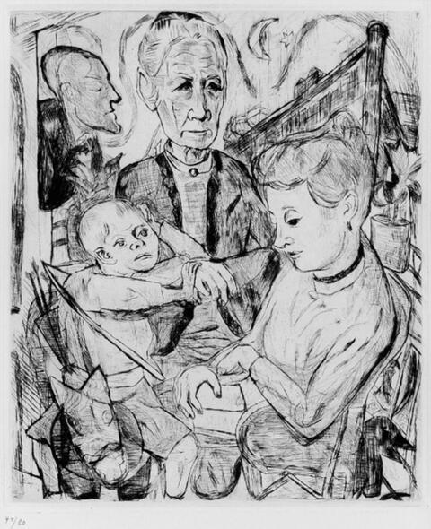 Max Beckmann - Familienszene (Familie Beckmann)