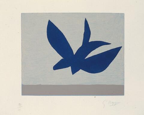 Georges Braque - Oiseau bleu