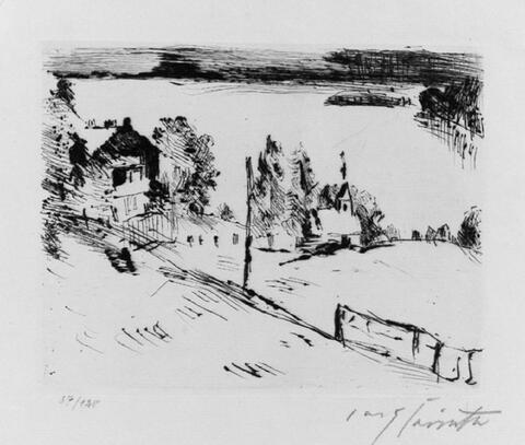 Lovis Corinth - Walchensee mit Kapelle