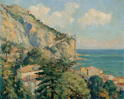 Edward Cucuel - Küstenlandschaft bei Menton