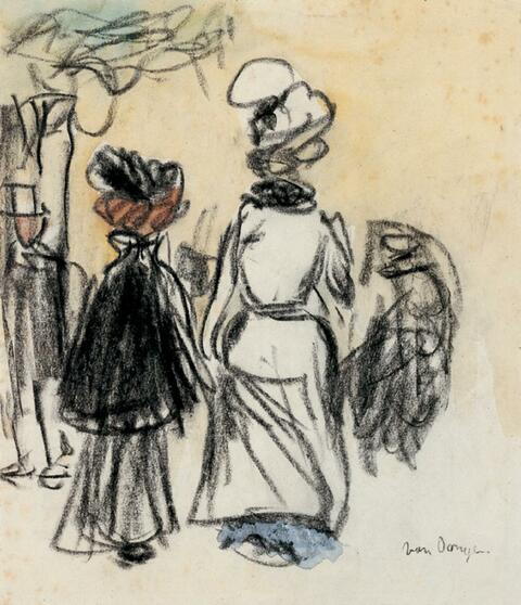 Kees van Dongen - Scène d'extérieur, femmes de dos