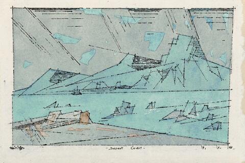 Lyonel Feininger - Desert Coast