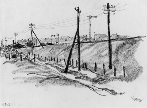 George Grosz - Eisenbahnlinie