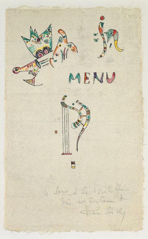 Wassily Kandinsky - Ohne Titel (Menu)