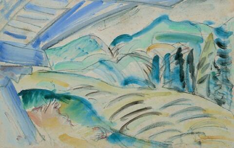 Ernst Ludwig Kirchner - Berglandschaft von Davos