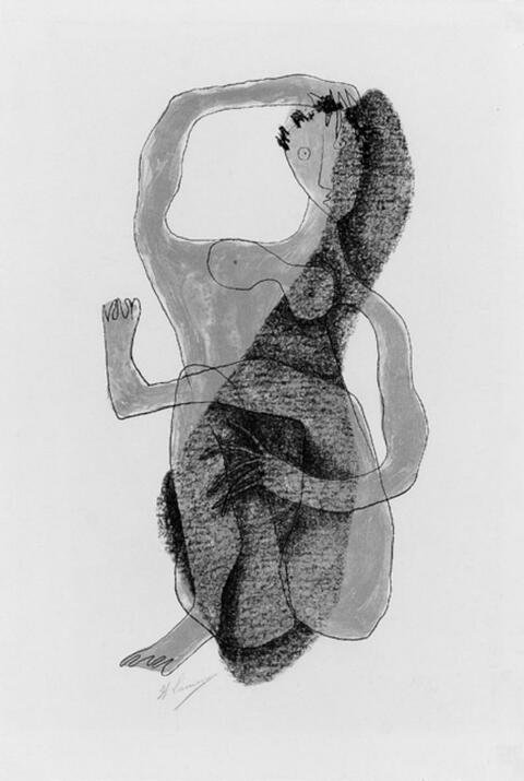 Henri Laurens - Femme assise à la jambe levée