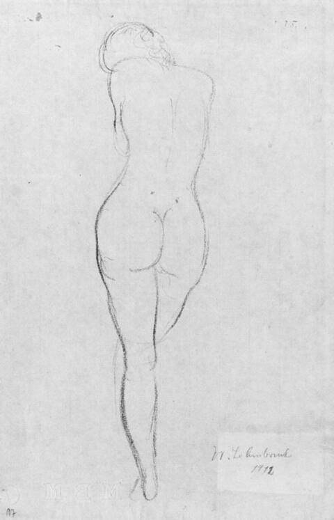 Wilhelm Lehmbruck - Weiblicher Rückenakt