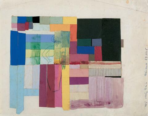 August Macke - Abstrakte Komposition mit Frau