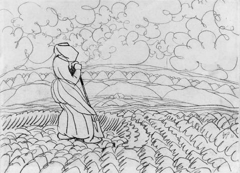 Wilhelm Morgner - Mädchen auf dem Feld