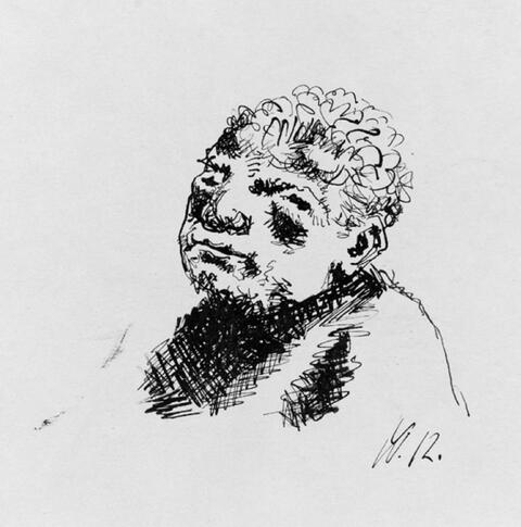 Wilhelm Morgner - Männliche Büste