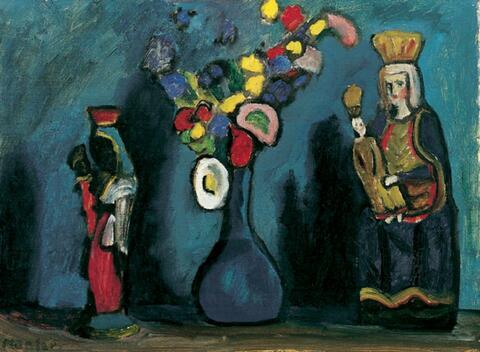 Gabriele Münter - Vase mit zwei Madönnchen