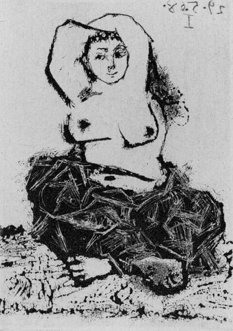 Pablo Picasso - Odalisque