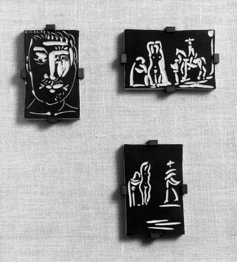 Pablo Picasso - Visage d'Homme. Personnages et Chevalier. Femmes et Toréador