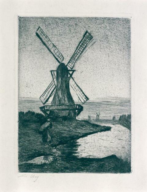 Lesser Ury - Holländische Windmühle