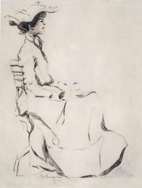 Max Beckmann - Junge Dame