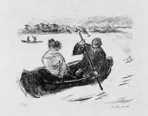 Max Beckmann - Boote auf dem Tegeler See