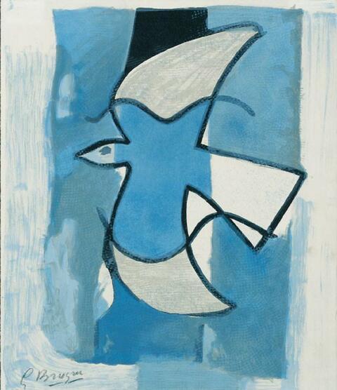 Georges Braque - L'Oiseau Bleu et Gris