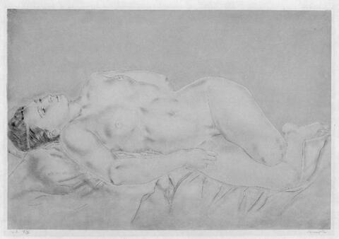 Léonard Tsuguharu Foujita - Femme nue