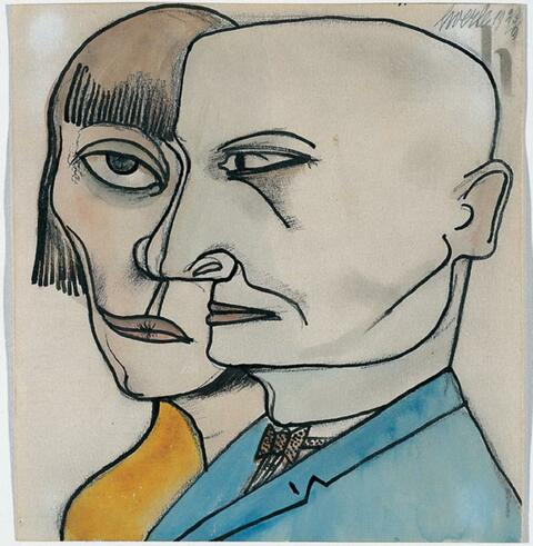 Heinrich Hoerle - Doppelporträt