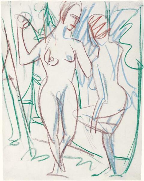 Ernst Ludwig Kirchner - Zwei Mädchen im Sertig-Tal