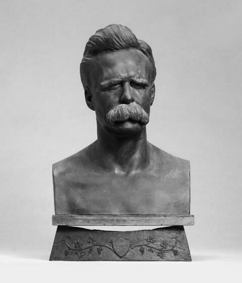 Max Klinger - Bildnis Friedrich Nietzsche