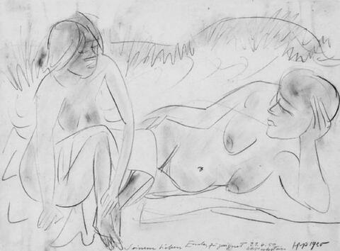 Hermann Max Pechstein - Zwei weibliche Akte am Strand