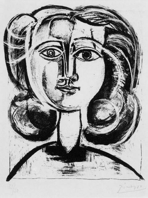 Pablo Picasso - Tête de Jeune Fille