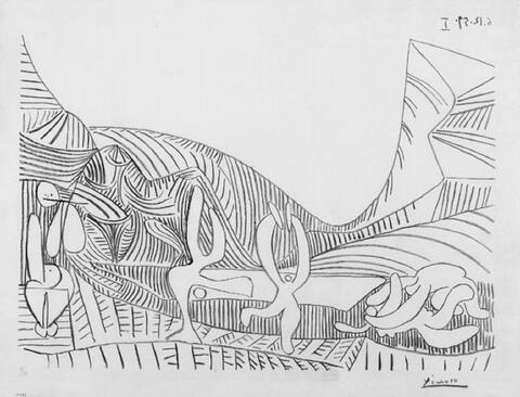 Pablo Picasso - Baccanale I